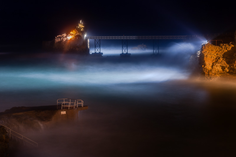 Biarritz la nuit (Photo)