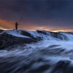 Arrantzalea Ilunabarrean – Pescador al atardecer