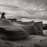 «Formaciones geológicas» tras el temporal en Donostia