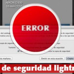 Error habitual en el backup de lightroom