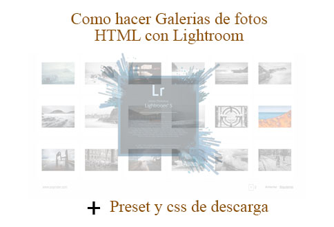galería html web lightroom