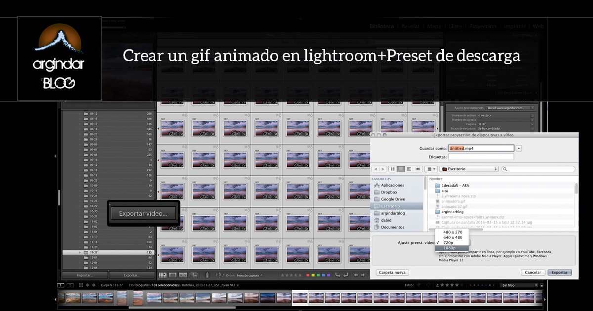 Crear un gif animado en lightroom+Preset de descarga