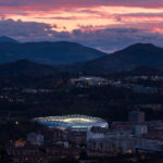 Donostia San Sebastián (Estádio de Anoeta) al atardecer